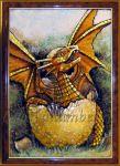 подарок картина дракон
