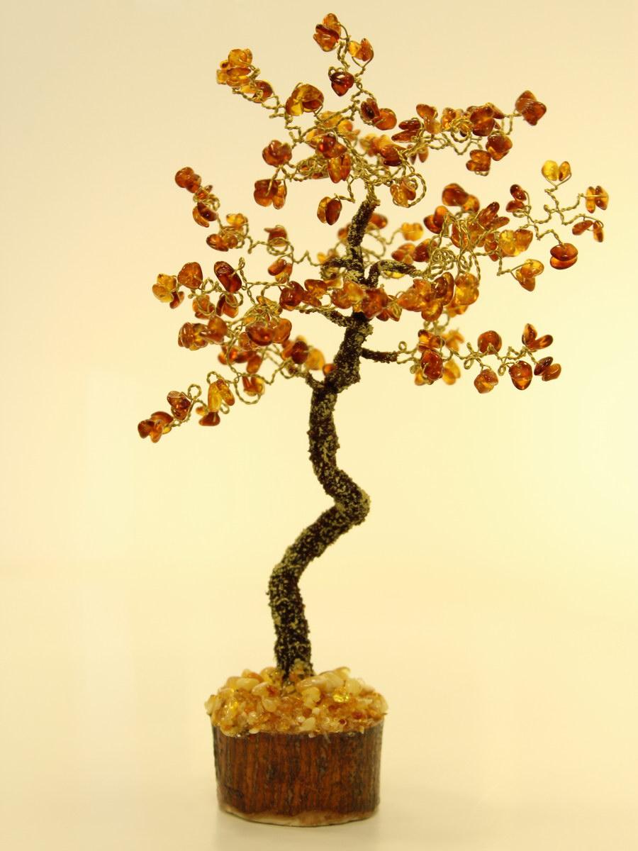Дерево денежное из янтаря своими руками 56