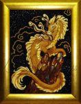 картина дракон из янтаря