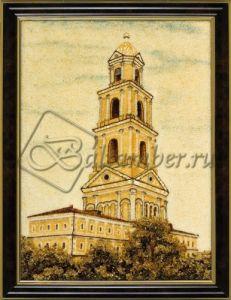 Картина из янтаря «Колокольня в Нижегородской области»